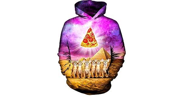 nayingying 3D Nuevo Otoño Invierno Sudaderas Hombres Mujeres Egipto Desierto Pizza NBL10373 M at Amazon Mens Clothing store: