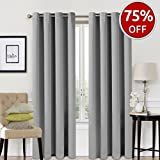 #7: Blackout Curtains 2 Panels Set Room Darkening Drapes Thermal Insulated Solid Grommets Window Treatment Pair for Bedroom, Nursery, Living Room,W52xL84 inch,Light Grey
