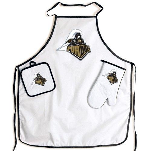 NCAA Purdue Boilermakers BBQ Tool Set - Purdue Boilermakers Apron