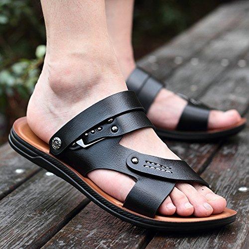 Xing Lin Sandalias De Hombre Verano Zapatos De Hombre Sandalias Hombre De Zapatillas Casual Al Aire Libre Tendencia Hombres Sandalias Sandalias Sandalias, 40,1008 Hombres Negro
