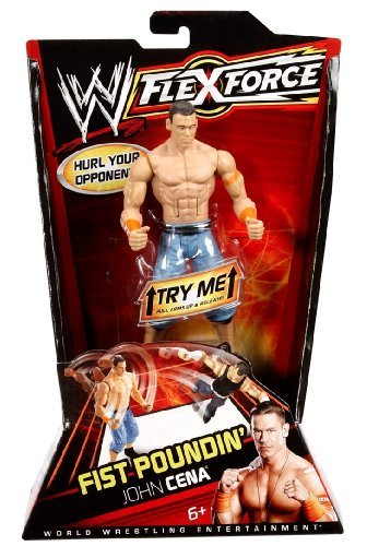 WWE FlexForce Fist Poundin 'John Cena Action Figure with Orginal Arm Band by Mattel [parallel import goods] by Mattel