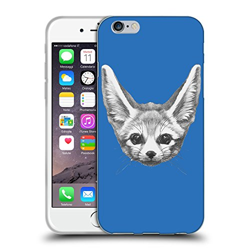 GoGoMobile Coque de Protection TPU Silicone Case pour // Q05230608 Fennec fox Azur // Apple iPhone 7
