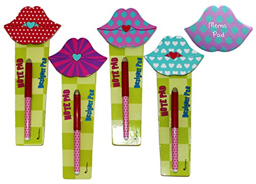 inkology-pop-art-graphic-lips-note-pad-and-designer-pen-sets-12-complete-sets-60-sheets-per-pad-3-ea