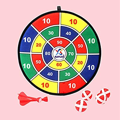 COAFIT Kids Dart Set Interactive Dart Board Game Sticky Dart Board Party Toys for Kids: Toys & Games