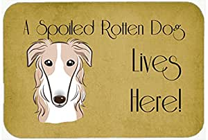 """Caroline's Treasures BB1476CMT Borzoi Spoiled Dog Lives Here Kitchen or Bath Mat, 20 by 30"""", Multicolor"""