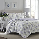 Laura Ashley Keighley Lilac Quilt Set, Full/Queen,