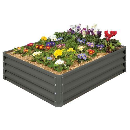 Stratco LG-18424 Raised Garden Bed, Metal, Slate Gray