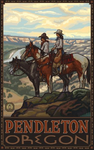 Northwest Art Mall Pendleton Oregon Two Horse Riders Plains Unframed Prints by Paul A Lanquist, 11-Inch by - Plains South Mall