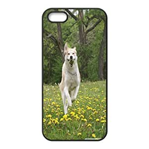 IPhone 5,5S Case Dog Running for Girls Protective, Iphone 5s Cases for Girls Pharrel, {Black} by waniwa