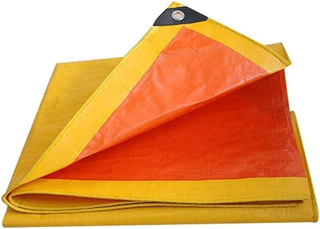 GRPB Lonas de plástico de Lona Cubiertas de jardín Cubiertas para Acampar al Aire Libre Cepillo de Limpieza para el Piso del Coche Impermeables para niños Ojales Amarillos Lonas (Tamaño : 6mx8m):
