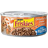 Friskies Prime Filets Chicken & Tuna In Gravy Canned Cat Food 24 – 5.5oz Cans