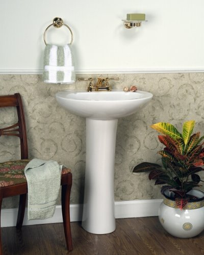 Barclay Hampshire 575 4 Inch Centerset Vitreous China Pedestal Sink