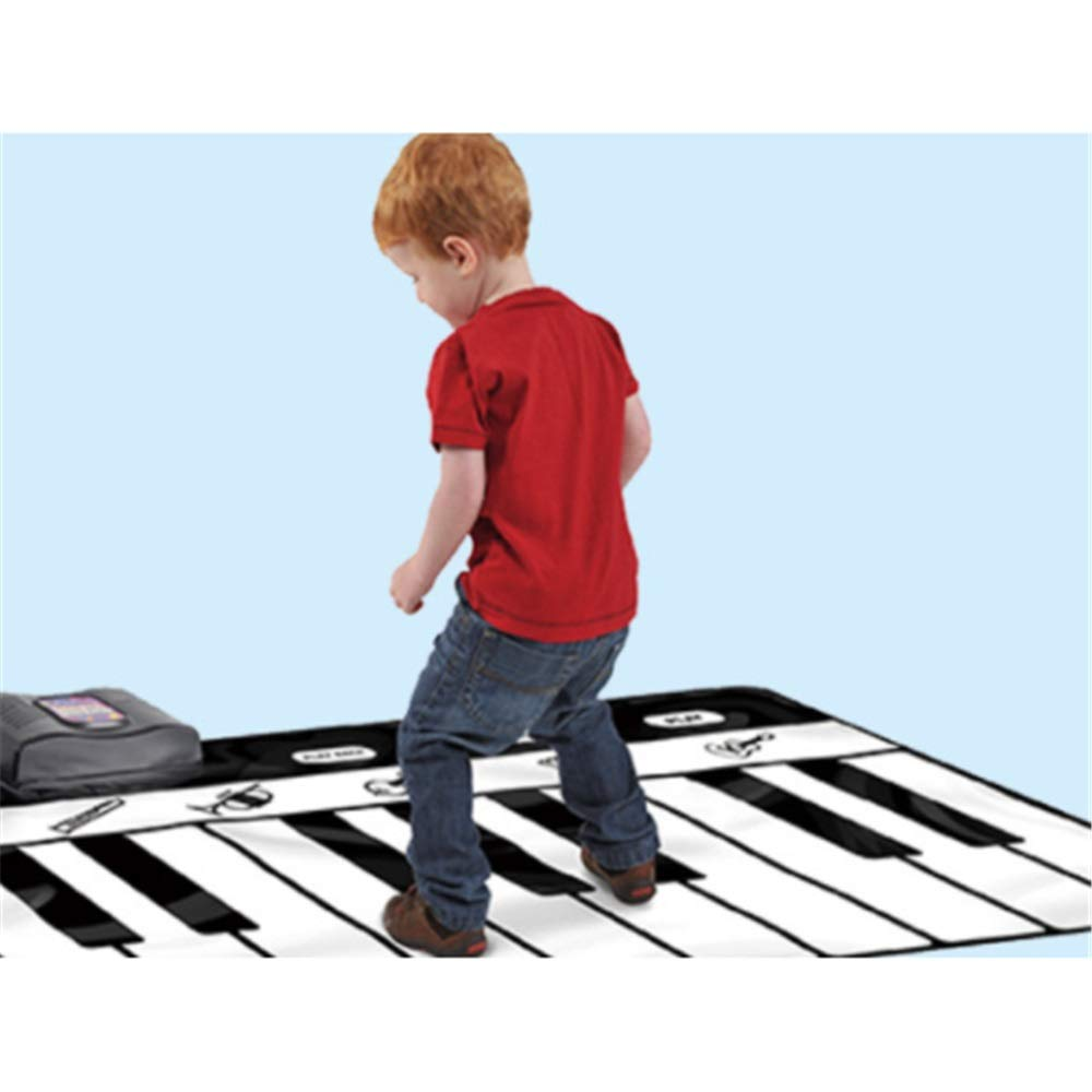 Play Keyboard Mat 71 Inches 24 Keys Giant Jumbo Sized Musical Keyboard Playmat With Record Playback Demo Play Adjustable Vol Foldable Floor Keyboard Piano Dancing Activity Mat Step And Play Instrument by GAOCAN-gq (Image #2)