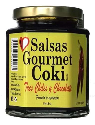 Salsas Gourmet Coki - Three Chile and Chocolate Salsa - Net 8.8 - Chocolate Salsa
