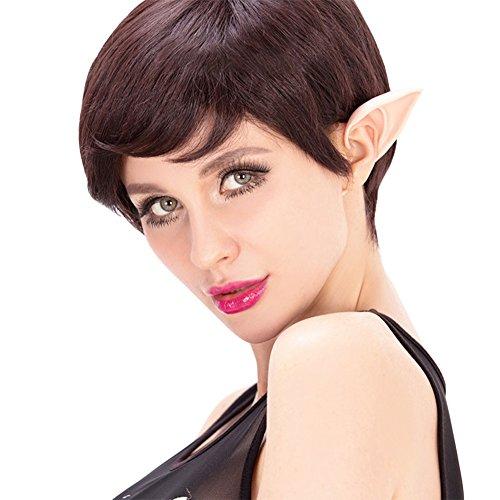 Lisli 1 Pair Cosplay Soft Fairy Pixie Elf Ears Accessories Halloween Prosthetic Ear