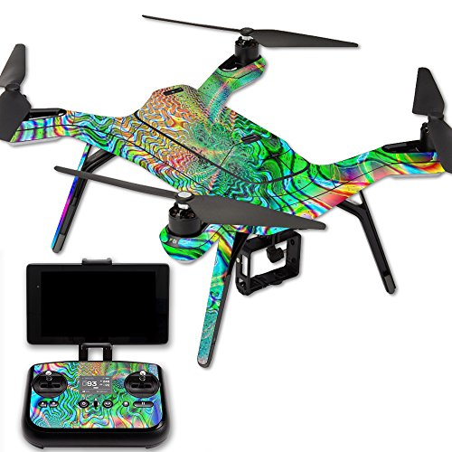 Cheap MightySkins Protective Vinyl Skin Decal for 3DR Solo Drone Quadcopter wrap Cover Sticker Skins Psychedelic