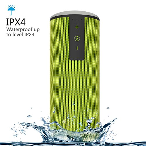St. Patrick' Day, Trendwoo Portable Waterproof Bluetooth Speaker with 12W Loudspeaker with Super Bass 15 Hours Playtime for iPhone 7/7Plus iPad Samsung and Android Phones (Green)