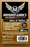 Mayday Games 7106 Clear Premium Magnum Ultra-Fit Sleeves 65x100mm - 80 Count
