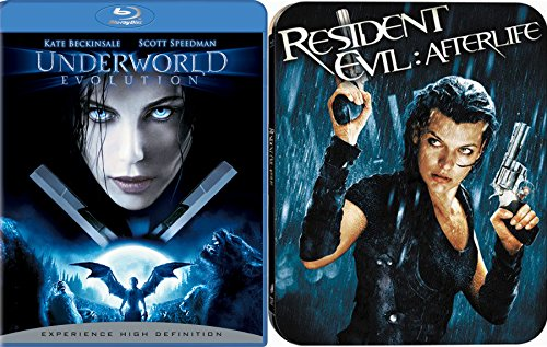 Hunting Vampires & Zombies Collection Resident Evil: Exclusive Steelbook Afterlife & Underworld: Evolution Blu Ray Bundle