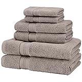 Pinzon Pima Cotton 6-Piece Towel Set, Grey