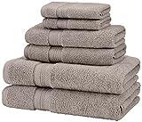 platinum towels - Pinzon Low Twist Pima Cotton 650-Gram 6-Piece Towel Set, Platinum