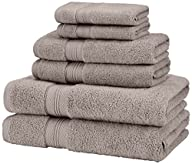 Pinzon 650-Gram Pima Cotton 6-Piece Towel Set – Grey