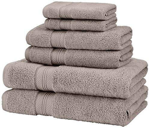Pinzon 6 Piece Pima Cotton Bath Towel Set - Platinum