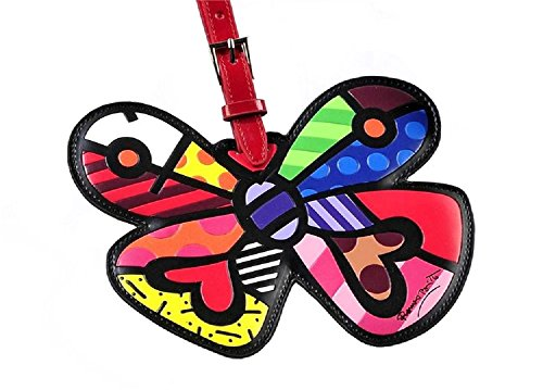- Romero Britto Butterfly Heart Luggage Tag