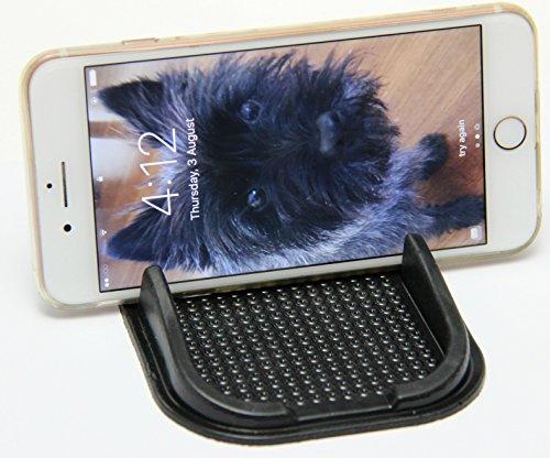 Silicone Anti Slip Dash Mat - 1pc Washable Reusable Universal Sticky Black Rubber Car Dashboard Pad – Auto Holder for GPS Cellphone SmartPhone MP3 MP4 Mobile Devices, Keys, Sunglasses, - Sunglasses Mp4