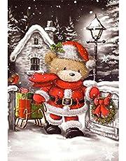 Diamond Painting Kit Full Drill, DIY Cross Stitch Crystal Mosaic Picture Artwork Home Decor Christmas Bear 30X40cm