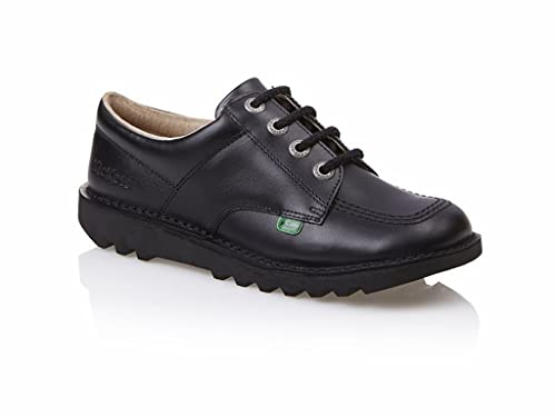 f5ae16b1f3 Girls Boys Kickers KICK LO Y CORE Black Leather School Work Shoes UK  3-6-Black-UK 6: Amazon.co.uk: Shoes & Bags