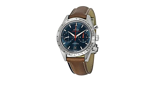 d36656ca3ad0 Amazon.com  Omega Speedmaster Automatic Blue Dial Brown Leather Mens Watch  33112425103001  Watches