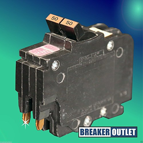 New FPE Federal Pacific NC0250 Circuit Breaker Stab-Lok 2 Pole 50A 240V Thin (Pole Breaker 50a 2)