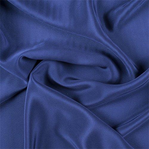 4 Ply Silk Fabric - Dark Blue 4 Ply Silk Crepe, Fabric By the Yard