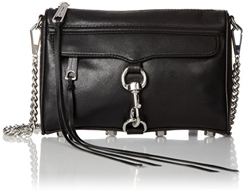 Rebecca Minkoff Mini MAC Convertible Cross-Body Handbag, Black,One Size 5159 2BFnvMSL
