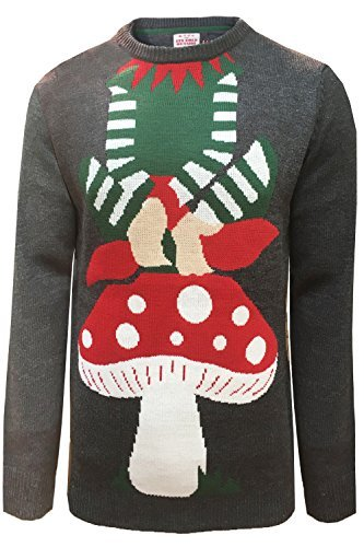 Threadbare Adults Novelty Christmas Festive Knitted Jumpers Visage IMX024