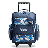 Personalized Rolling Luggage for Kids – Blue Camo Design, 5'' x 12'' x 20''H, By Lillian Vernon