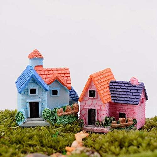 SeedWorld - Figuras y miniaturas – Mini Castillo de Hada jardín miniaturas Castillos terrario Figuras decoración jardín Miniatura casa Villa Woodland Fairy Figuras 1 Pieza: Amazon.es: Jardín