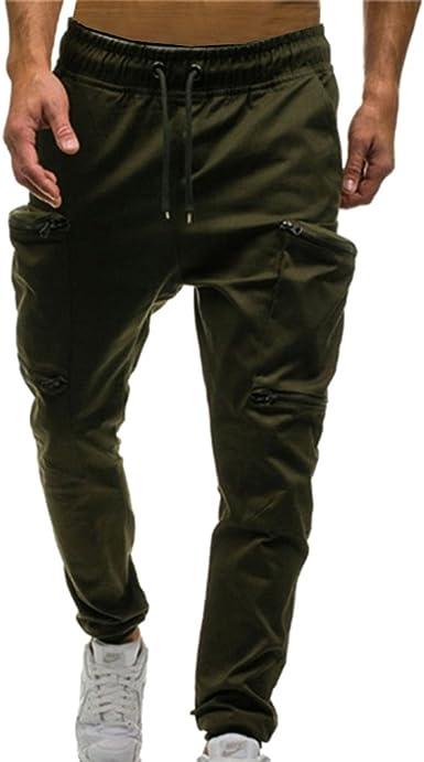 Mxssi Hombre Deportivo Pantalones Fitness Jogging Running Pantalon Largos Moda Casual Pantalones Caqui Gris Verde Negro Rojo Verde Militar Amazon Es Ropa Y Accesorios