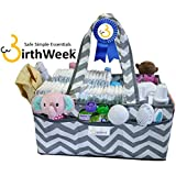 EXTRA LARGE Diaper Caddy Bag Organizer with WATERPROOF Bottom | 2yr Warranty | Multi-Use Baby Nursery Tote | 8 Deep Pockets | Soft Durable Canvas | Long Handles | Removable Inserts | Gender Neutral