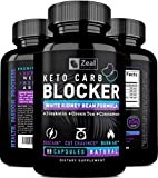 KETO White Kidney Bean Carb Blocker + Forskolin (40 Servings) White Kidney Bean Extract & Forskolin for Weight Loss w Green Tea – Keto Diet Carb Blockers Weight Loss Pills – Keto Cheat Pills Keto Burn For Sale