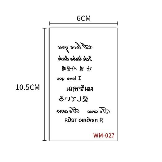 zgmtj Etiquetas engomadas WM027 60x105mm del Tatuaje de los ...