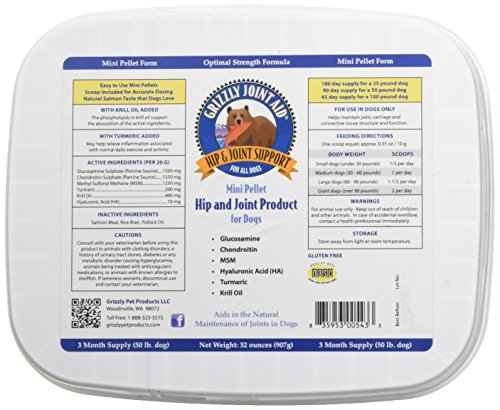 Grizzly Pet Products Pellet Joint Aid for Dogs, 32 oz. For Sale