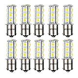 HOTSYSTEM 1156 7506 1003 1141 LED SMD 18 LED Bulbs Interior RV Camper Warm White 10-pack