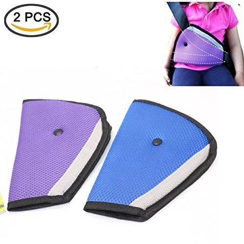 2Pcs Seat belt adjusters,IDS Safety Belt Covers,Seat Belt Positioner Blue/&Purple