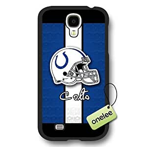 Personalize NFL Indianapolis Colts Logo Frosted Black Samsung Galaxy S4 Case Cover - Black