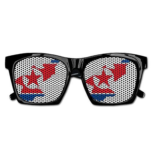 North South Korea Flag Map Unisex Resin Frame Classic Style Sunglasses Outdoor Sports Sun Glasses