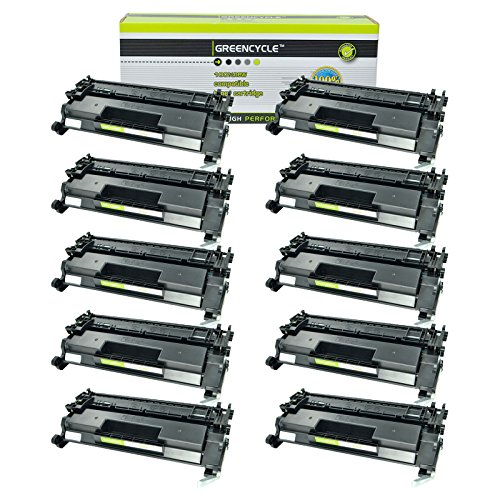 - GREENCYCEL 10 Packs Replacement for HP 26A CF226A 3100 Pages Black Compatible Toner Cartridge for Laserjet Pro M402 M426 M402n M402dn M402dw MFP M426fdw MFP M426fdn M402d MFP M426dw Series Printers
