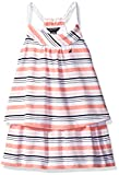 Nautica Baby Stripe Double Tier Dress with Rope Straps, Soft Coral, 18 Months