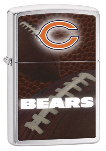 Lighter Zippo Nfl Zippo (Zippo Pocket Lighter NFL Chicago Bears Brushed Chrome Pocket Lighter)